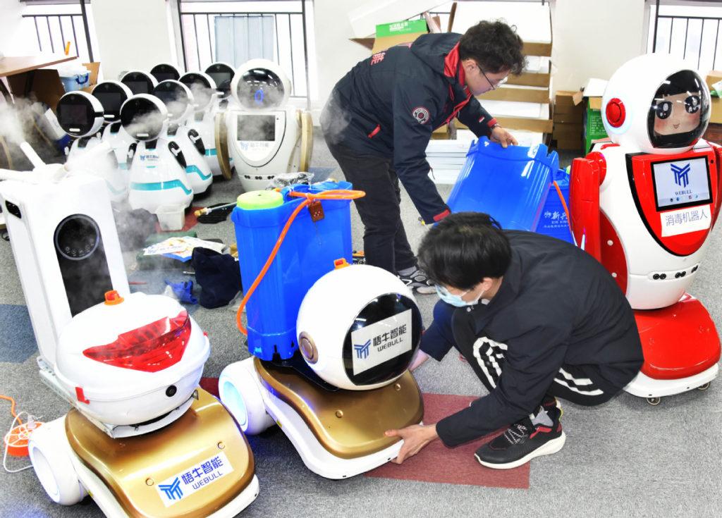 robot désinfectant